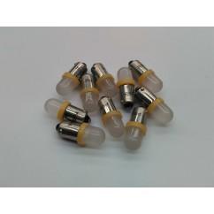 PSPA 44 / 47 FROSTED LED ORANGE pack of ten