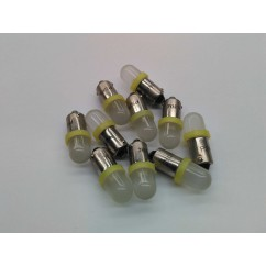 PSPA 44 / 47 FROSTED LED YELLOW pack of ten
