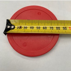 Red Air Hockey puck ( commerical use )  approx 8 cm