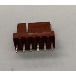 6h str sq pin .100 solid tab connector