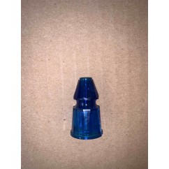 """GOTTLIEB 1-3/16"""" FASCETED POST - CLEAR blue"""
