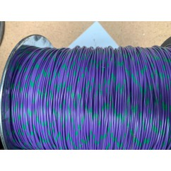 wire 22 g  purple and green