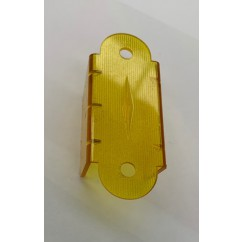 "2-1/8"" Double Sided Lane Guide - TRANSPARENT yellow"