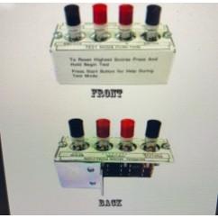 4-Button Diagnostic Button Switch & Housing assembly