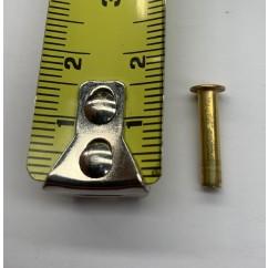 Rivet  1/8 x 9/16 X 7/32 Brass