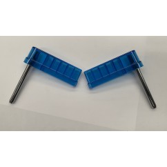 "Flipperbat  3"" flat  transparent blue (pair)"