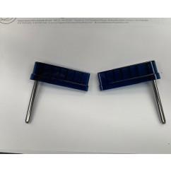 "Flipperbat  3"" flat  transparent D blue (pair)"
