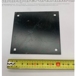 Metal lock plate  square