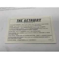 The Getaway card instruction