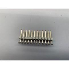 Connector 12h r/a sq pin .156 header
