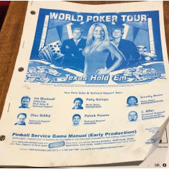 World Poker Tour USED manual