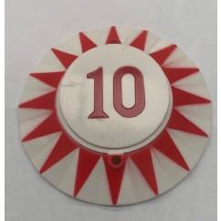 Red Sun 10 red  pop bumper cap