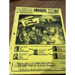 The Simpsons Pinball Party USED manual #2