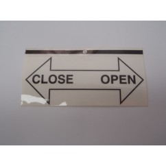 open close decal - 16-11095