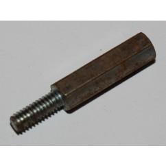 post mf 8-32 x .88 zinc 1/4 hex