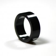 "1"" Mini flipper rubber High Gloss Super-Bands - black"