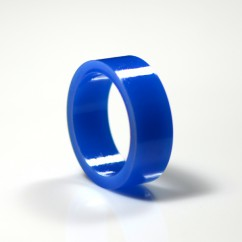 "1"" Mini flipper rubber High Gloss Super-Bands - Blue"