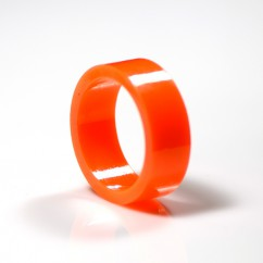 "1"" Mini flipper rubber High Gloss Super-Bands - orange"