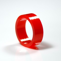 "1"" Mini flipper rubber High Gloss Super-Bands - red"