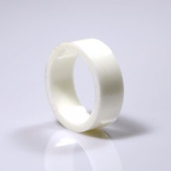 "1"" Mini flipper rubber High Gloss Super-Bands - white"