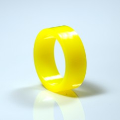 "1"" Mini flipper rubber High Gloss Super-Bands - Yellow"