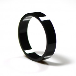 "Black Super-Bands Flipper Rubber 1.5"" ID x .375"" Wide suit Gottlieb"