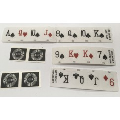 WORLD POKER TOUR target decals