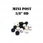 """3/8"""" OD Black Mini Post Rubber Premium"""
